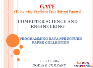 R K Kanodia Programming Data Structures Notes