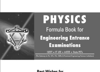 Physics Formula Book By Resonance Eduventures Limited