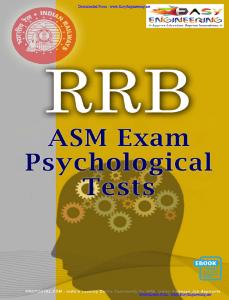 RRB Psychological Tests For Assistant Station Master
