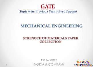 R K Kanodia Strength of Materials Notes