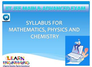 JEE Main & Advanced Exams Syllabus