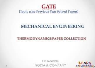 R K Kanodia Theormodynamics Notes