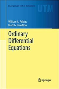 Ordinary Differential Equations By William A.Adkins
