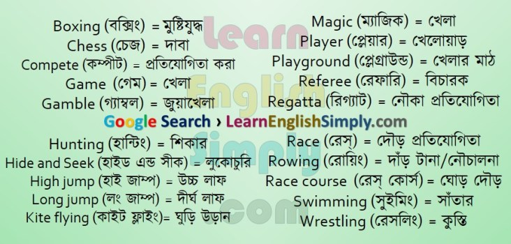 Vocabulary Game and Sports