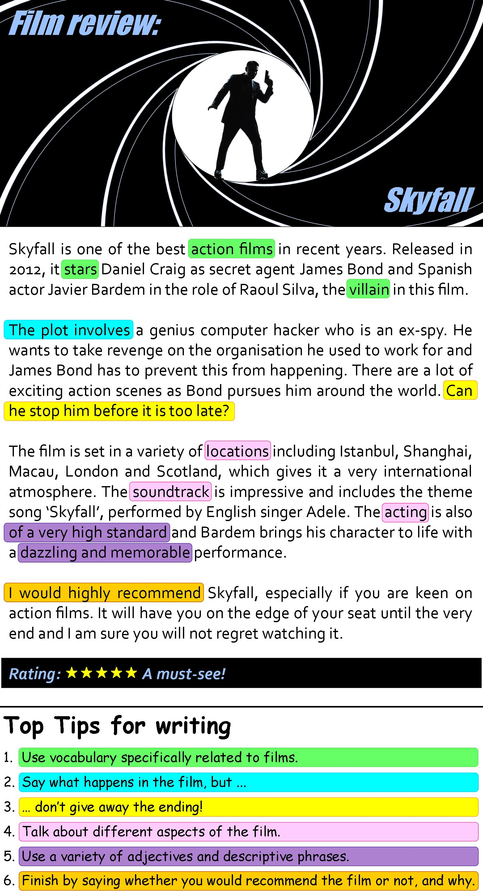 Skyfall Film Review Learnenglish Teens