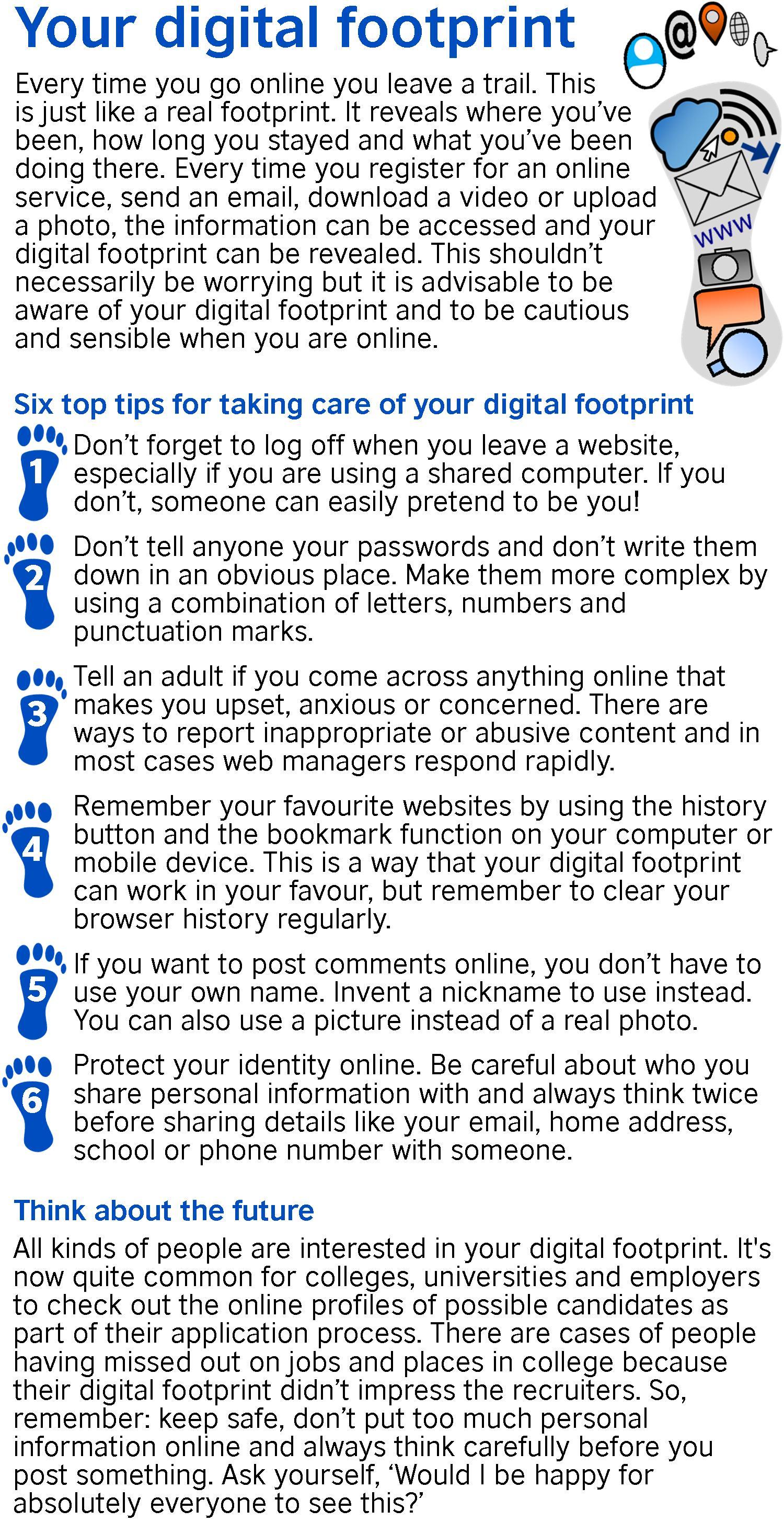 Your Digital Footprint Learnenglish Teens