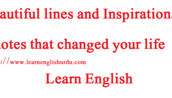 beautiful lines and inspirational quotes that changed your life