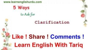 5 Ways to Ask for Clarification