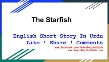 Moral Story The Starfish In English With Urdu TranslationMoral Story The Starfish In English With Urdu Translation
