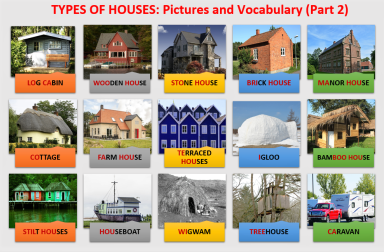 Types of houses pictures and vocabulary part 2 learn for Different kinds of houses