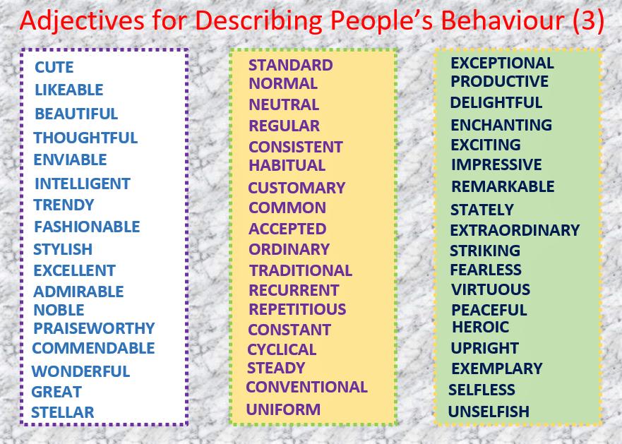 adjectives to describe people - Madran kaptanband co