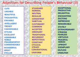 Adjectives for Describing Behaviour (3), Learn English With Africa, September 2017-English Worksheets