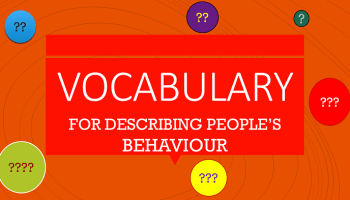 Vocabulary for describing relationships: Adjectives, comprehensive