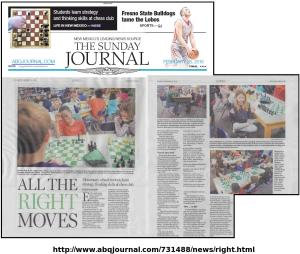 feb 28thth abq journal article about Learners Chess