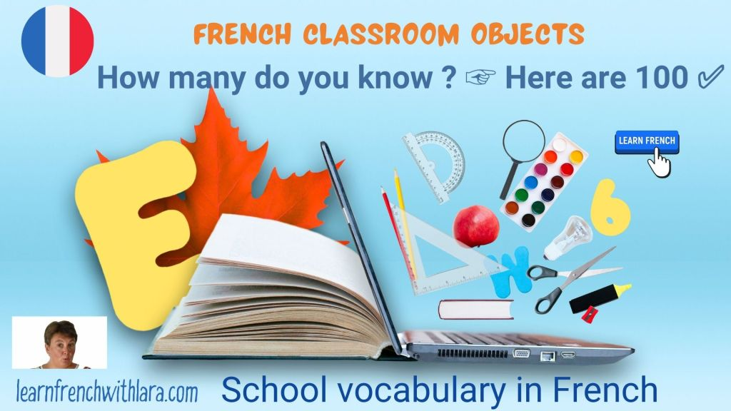 French classroom objects