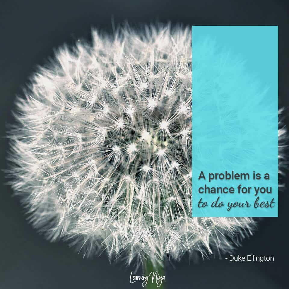 A problem is a chance for you to do your best - Duke Ellington
