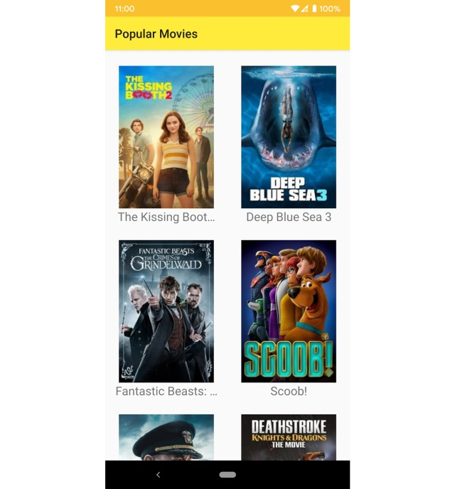 Figure 13.1: How the Popular Movies app will look