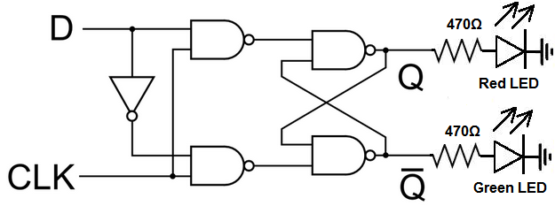 How To Build A D Flip Flop Circuit With NAND Gates