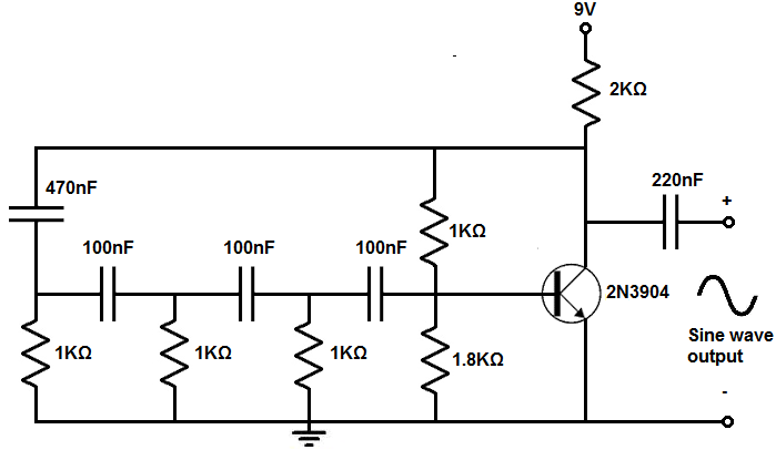 How To Build A Sine Wave Generator Circuit With A Transistor