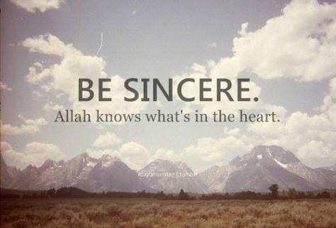 Inspiration: Be sincere
