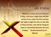 Hadith: Benefits of reading Surat Al Kahf every Friday