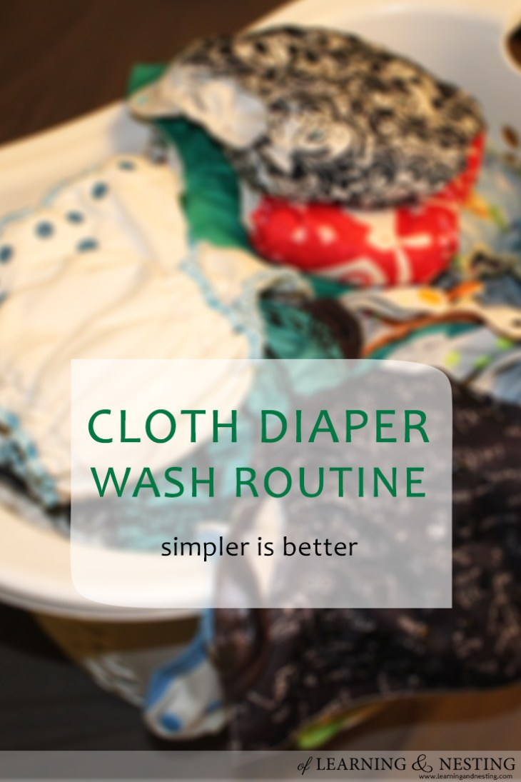 Cloth diaper laundry is very manageable as long as you keep your wash routine simple!