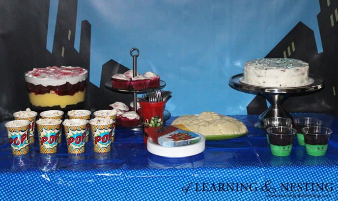 A Superhero 4th Birthday - Dessert Table