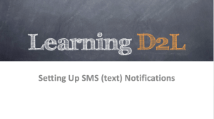 Setting Up SMS Notifications graphic