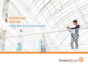 Desire2Learn ePortfolio Brochure