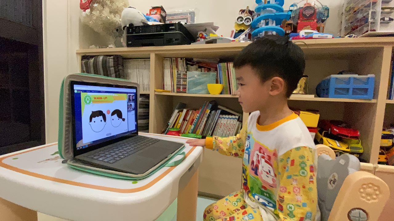 Aaron 能在快樂中學英文