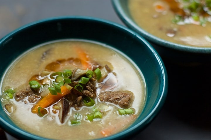 Hot and Sour Soup with Burdock Root