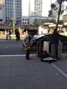 Justin Ward in Union Square, SF