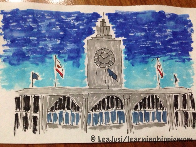 San Francisco Ferry Building drawing