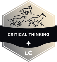 Involved-level Critical Thinking Badge