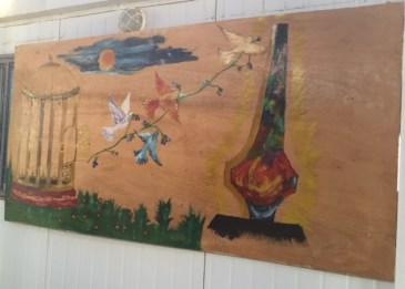 Syrian mural 2 at zatari