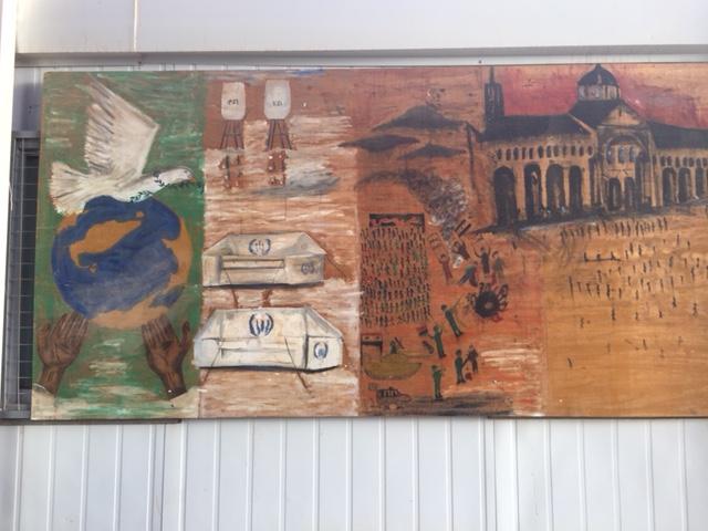 Syrian mural 3 at zatari