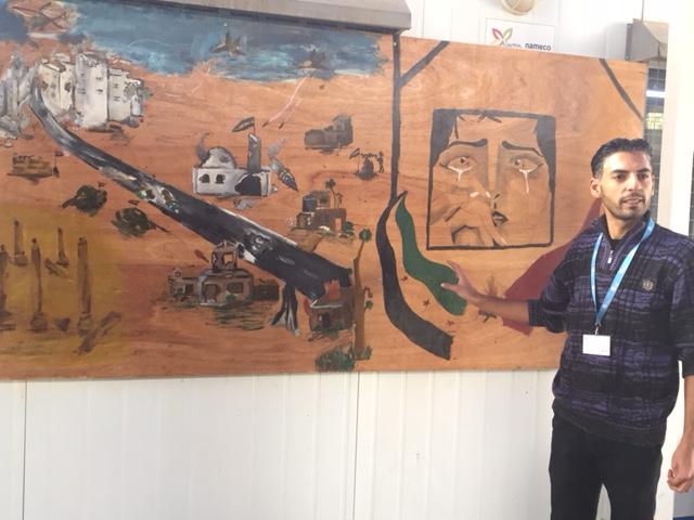 Syrian mural at Zatari