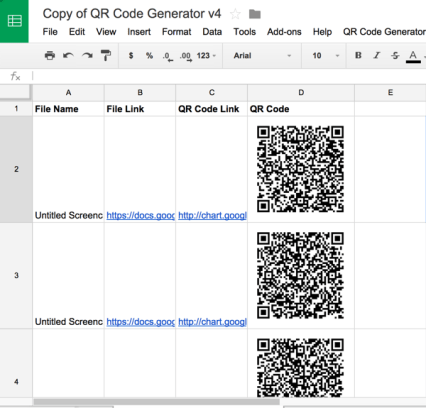 What I'm Using: A Google Apps Script to make a QR code for