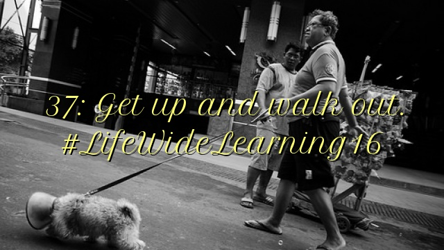 37: Get up and walk out. #LifeWideLearning16