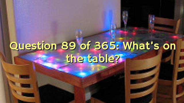 Question 89 of 365: What's on the table?