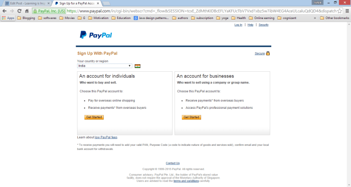 Paypal Account creation guide