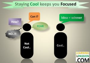 Staying cool keeps you focused
