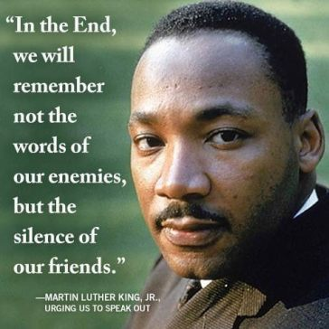In the end we will remember - Martin Luther king Jr Quote