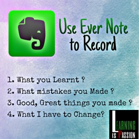 use evernote to record your journal