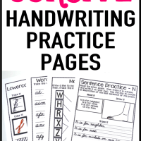 Handwriting Practice Pages – Cursive and Print