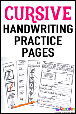 No handwriting curriculum?  Use this 138-page pack to help your students learn cursive!