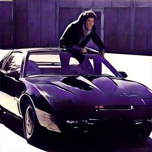 Michael Knight conduciendo el coche fantástico (KITT)