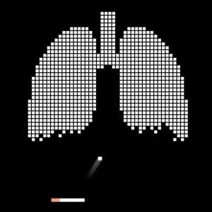 Ejemplo de metáfora visual. Fumar mata.