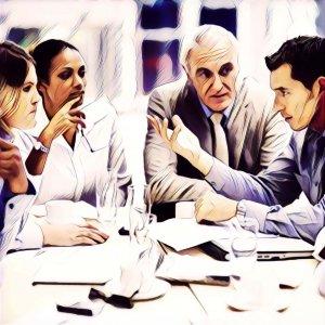 Reunión de trabajo oficina