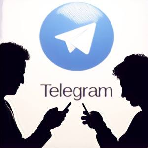 Personas chateando en Telegram